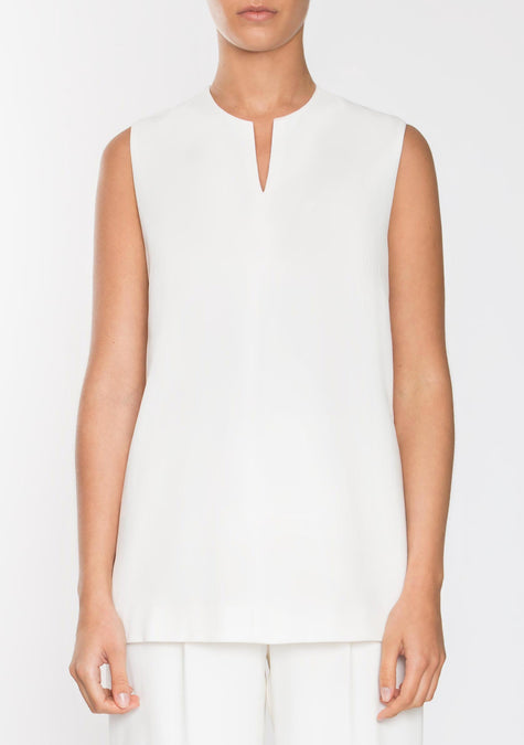 Top - Sleeveless Crepe Top - 1945186893893