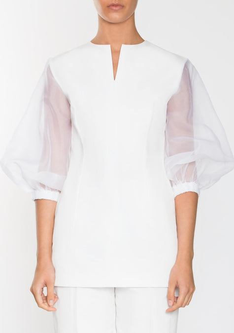 Top - Organza Sleeves Top - 1945152979013