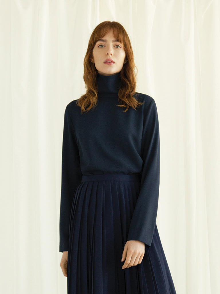 Turtleneck Crepe Top