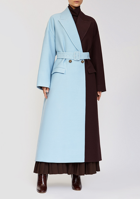Abaya - Two Tone Long Coat - 3926414721093