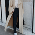 Image 15 of Minimal Loose Belted Coat