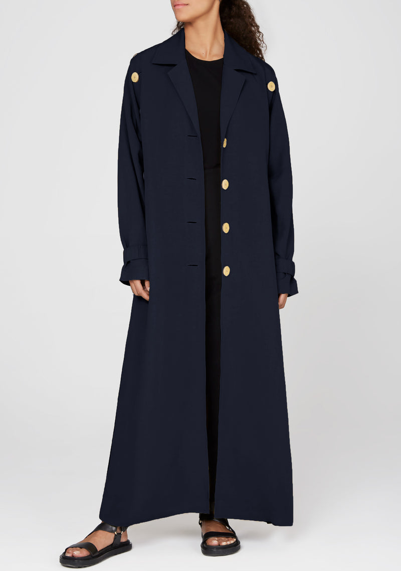 Long Buttoned Down Trench