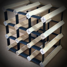 Load image into Gallery viewer, 12 Bottle Timber Wine Rack | 3x3 Configuration