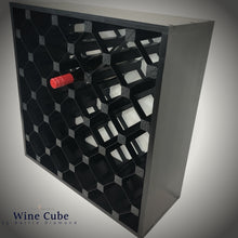 Load image into Gallery viewer, 25 Bottle Diamond Cube Wine Rack
