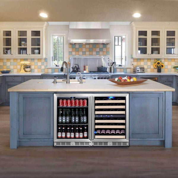 Wine Fridge and Beer Refrigerator COMBO - Under Bench