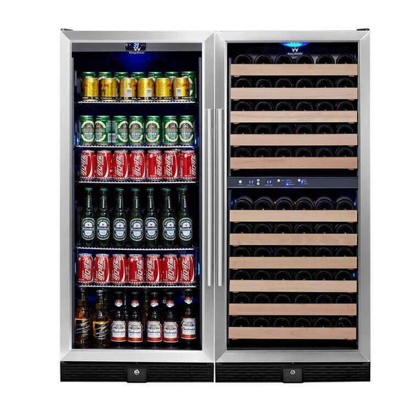 WINE & BEER COOLER REFRIGERATOR UPRIGHT COMBO | KB308BW3
