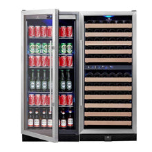 Load image into Gallery viewer, WINE & BEER COOLER REFRIGERATOR UPRIGHT COMBO | KB308BW3