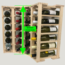 Load image into Gallery viewer, 4 Column 24 Bottle Curved Corner Wine Cube