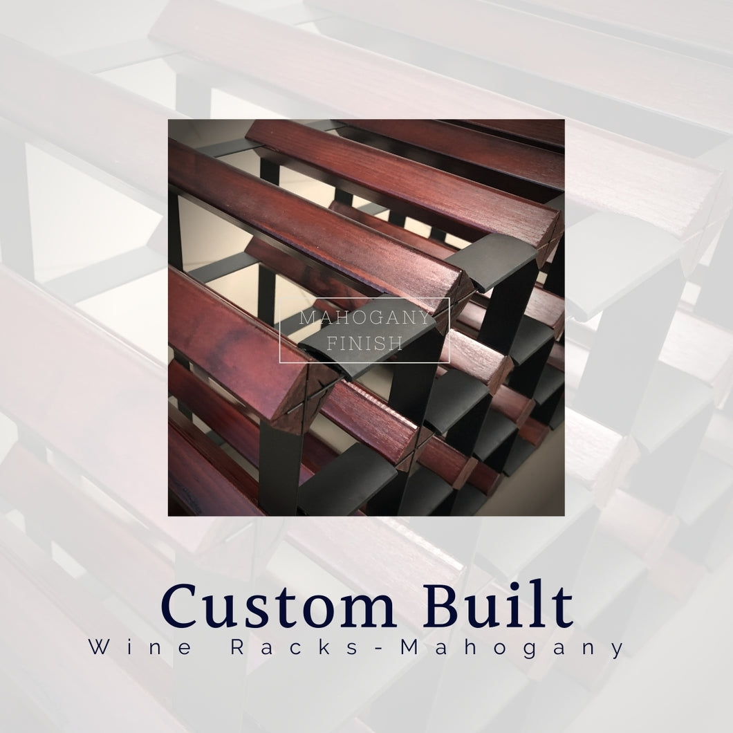 Custom Built Wine Rack | Dark Mahogany Finish
