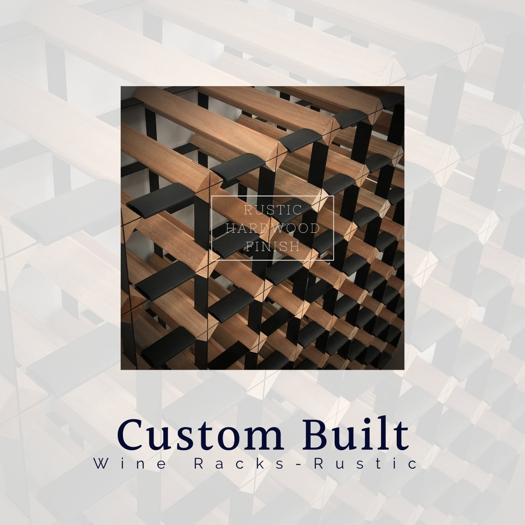 Custom Built Wine Rack | Rustic Hardwood Finish