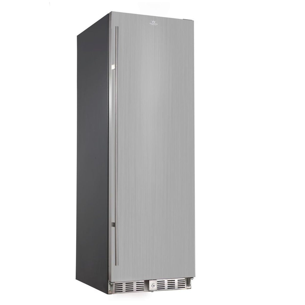 405 LITRE STAINLESS STEEL SOLID DOOR UPRIGHT BAR FRIDGE | KB405