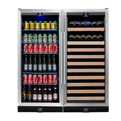WINE & BEER COOLER REFRIGERATOR UPRIGHT COMBO | KB308COMBO