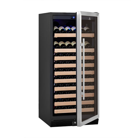 Glass door upright wine fridge - KB308WGS