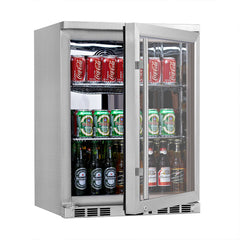 Heating Glass Door Under Bench Beverage Fridge for Indoor & Outdoor