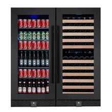Load image into Gallery viewer, Wine Cooler and Beer Refrigerator Upright Combo
