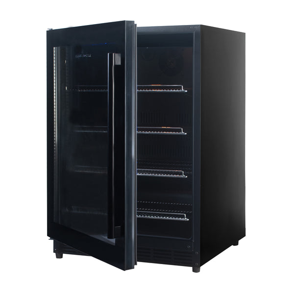 152 Litre Under Bench Glass Door Beer Fridge