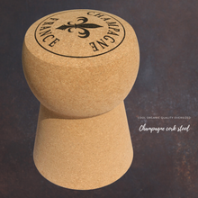 Load image into Gallery viewer, Round Top Champagne Cork Stool Cork Table