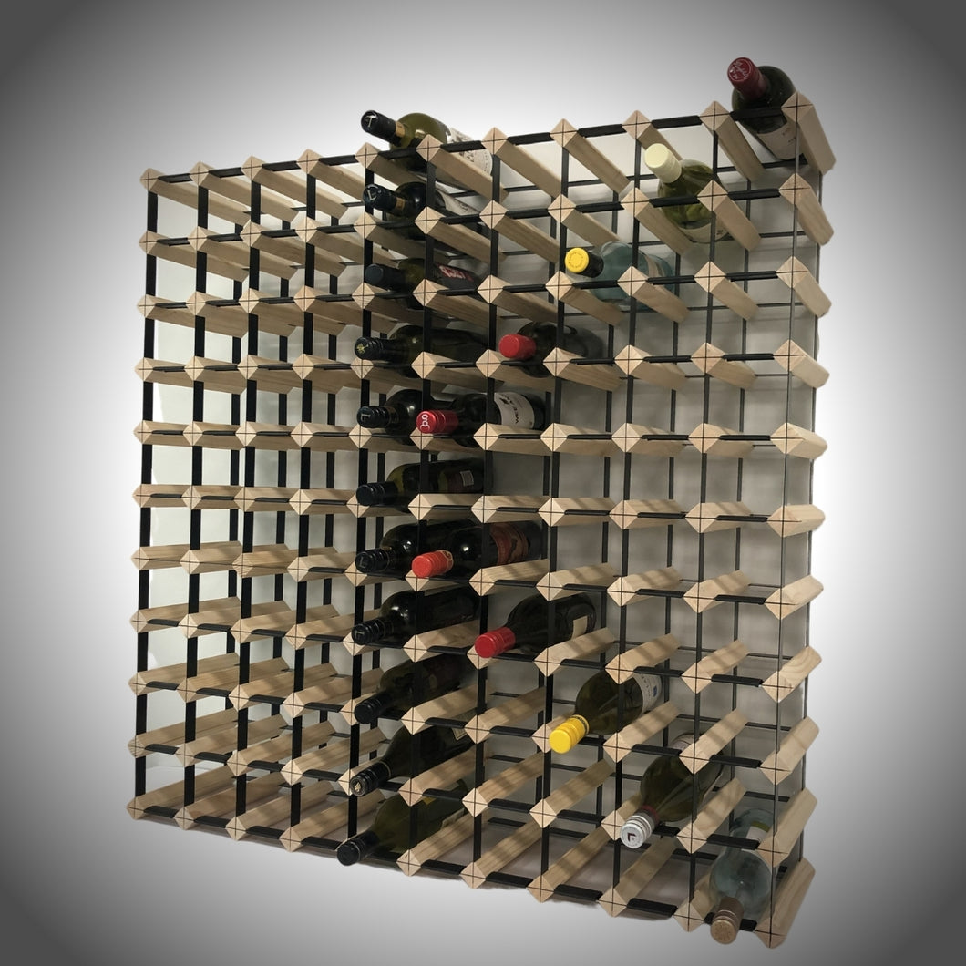 110 Bottle Timber Wine Rack | 10x10 Configuration