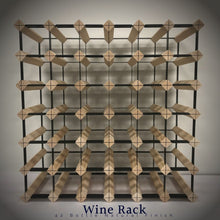 Load image into Gallery viewer, 42 Bottle Timber Wine Rack | 6x6 Configuration