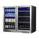 Under Bench Beer and Wine Fridge Combo KB28LRX
