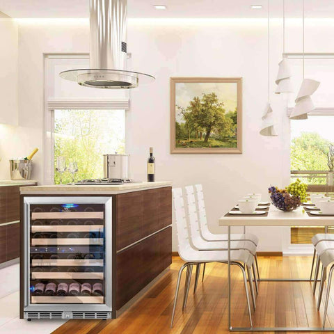 dual zone front venting built in wine fridges with glass door kingsbottle Sydney wine refrigerators kb152dss lifestyle