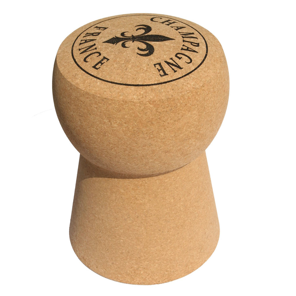 Round Top Champagne Cork Stool Cork Table