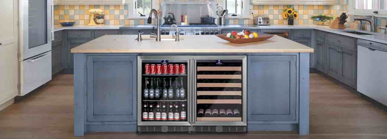 Wine and Beverage Fridges Combo
