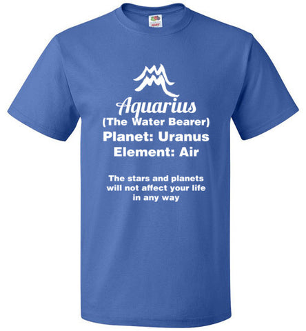 Aquarius Zodiac sign Tshirt