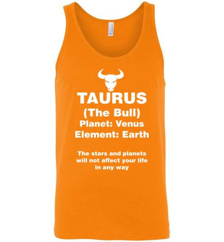 Taurus Zodiac Sign Unisex Tank-Top