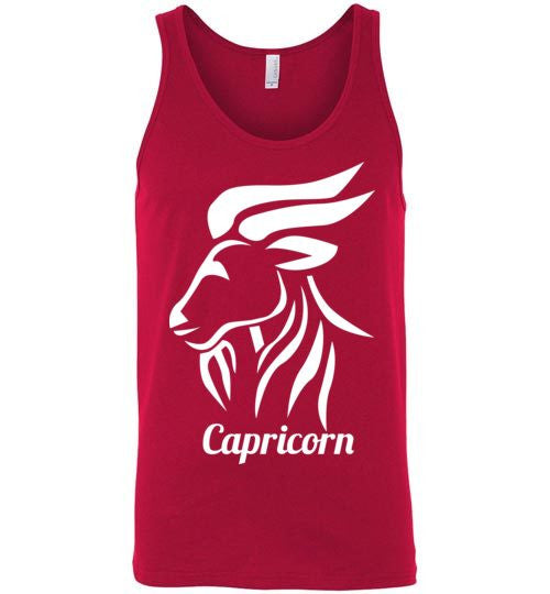 Capricorn Wide Symbol Unisex Tank-Top