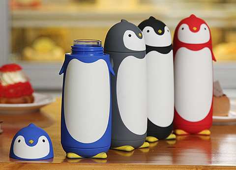 NEW | SKORVA® Penguin Glass Thermal Bottle