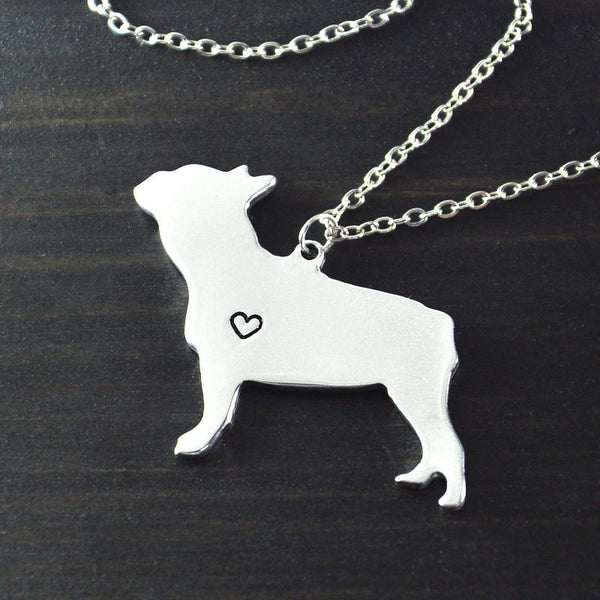 Customizable Hand Cut Dog Engraved Necklace