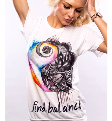 Find Balance Ladies T-Shirt
