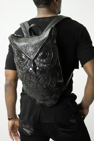 NEW | OWL BACKPACK BLACK BY CESARE MARIMEKKO