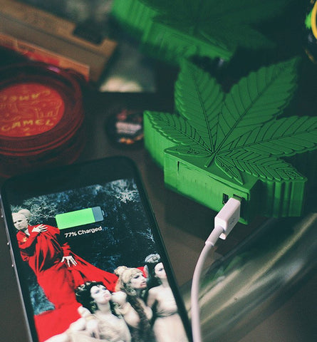 Marijuana Leaf Power Bank Charger