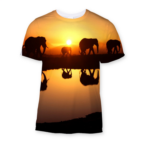 Elephant Horizon Sunrise T-Shirt
