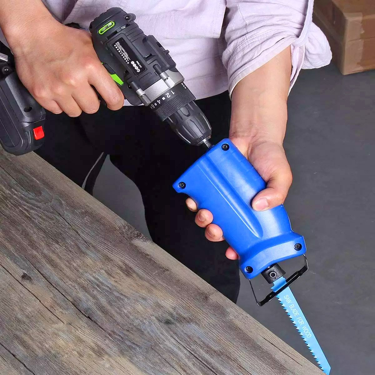NEW | TOPNORTH® TOOLS DRILL RECIPROCATING SAW ATTACHMENT - Back to RealiTee®