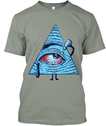Pyramid Eye-Drop Unisex T-Shirt