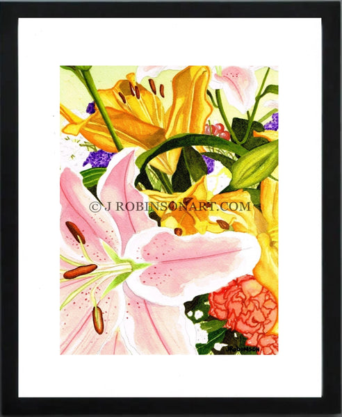 A Gift of Flowers Print (12x16)