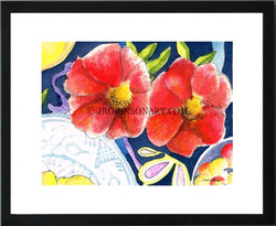 Red Flowers Print (12x16)