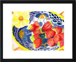 Strawberries and Flowers Print (12x16)
