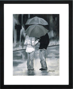 Couple in the Rain Print (12x16)