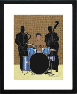 Jazz Band Drum (12x16 Print)