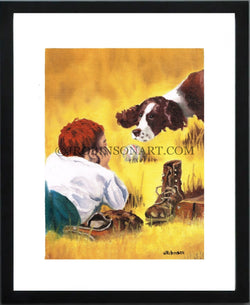 Boy and His Dog Print (12x16)