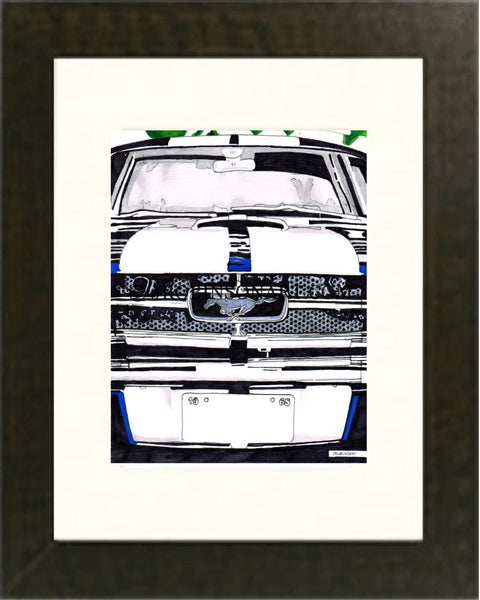 1965 Mustang GT 350 Shelby Print (12x16)