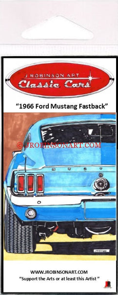1966 Mustang Fastback Magnet