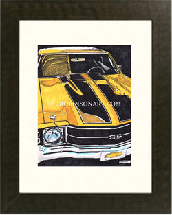 1972 Chevy Chevelle SS Print (12x16)