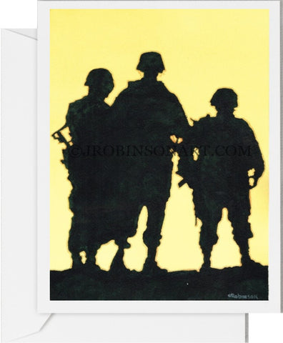 3 Soldiers Card