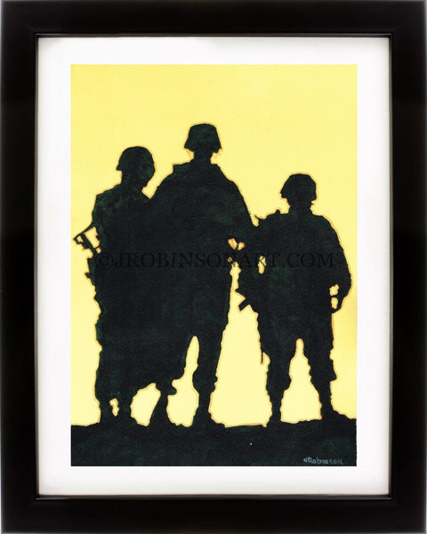 3 Soldiers Prints (12x16)
