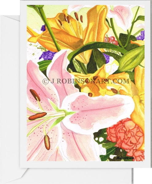 A Gift of Flowers Card